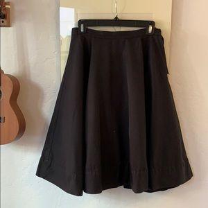 Classic black circle skirt H&M vintage 1959s vibe
